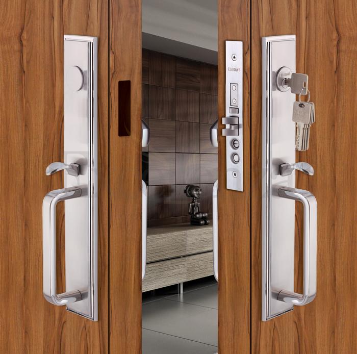 inspiring double lock door handle set gallery